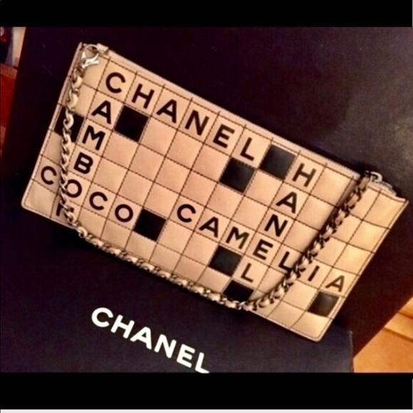 CHANEL Handbags - Authentic Coco Chanel Rare LTD Ed Scrabble Clutch